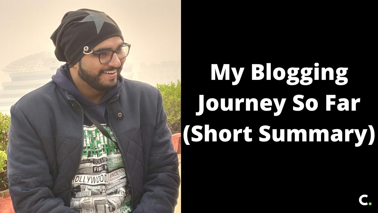 My Blogging Journey So Far (Short Summary)