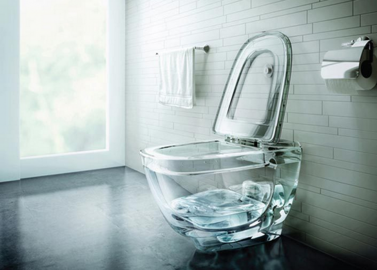 Glass Toilet