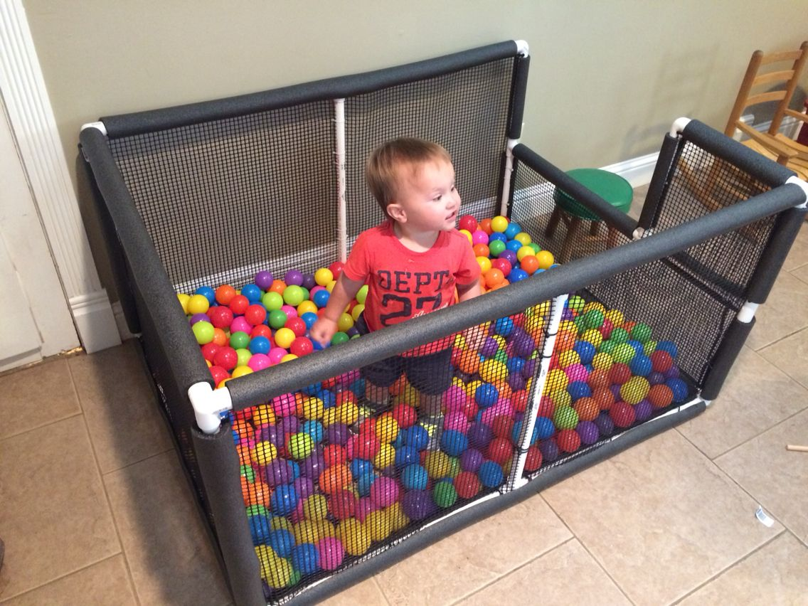 Ball Pit Made From PVC Pipe & Pipe Insulation