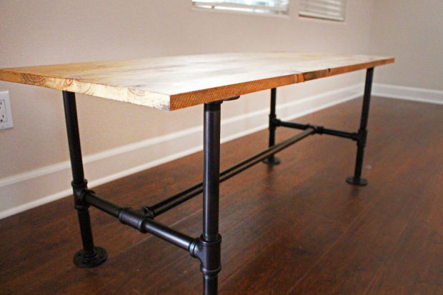 Coffee Table Made With Iron Pipe