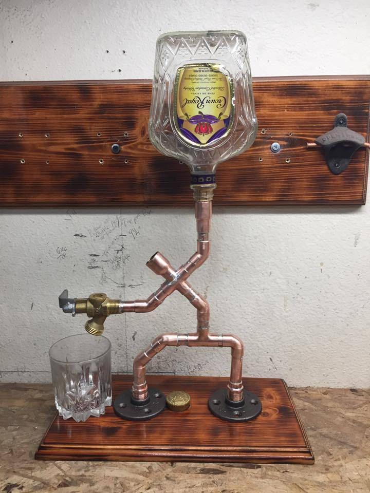 Copper Pipe Drinks Dispenser