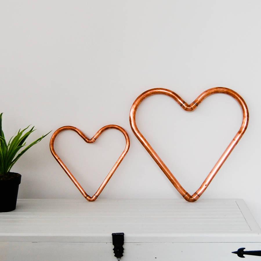 Copper Pipe Heart Decorative Ornament
