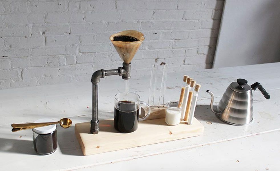 Iron Pipe Pour Over Slow Coffee Maker