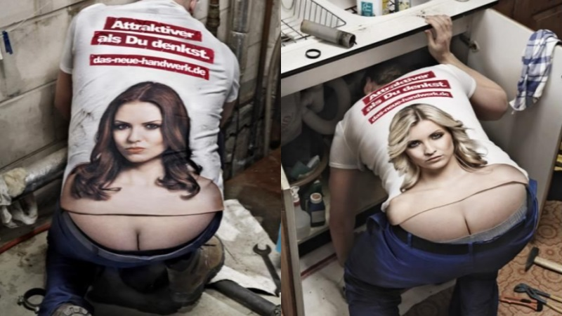 Plumber's Crack Camouflage T-shirt
