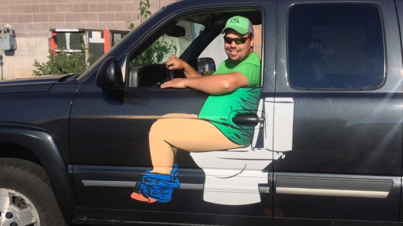Plumber's Hilarious Truck Logo