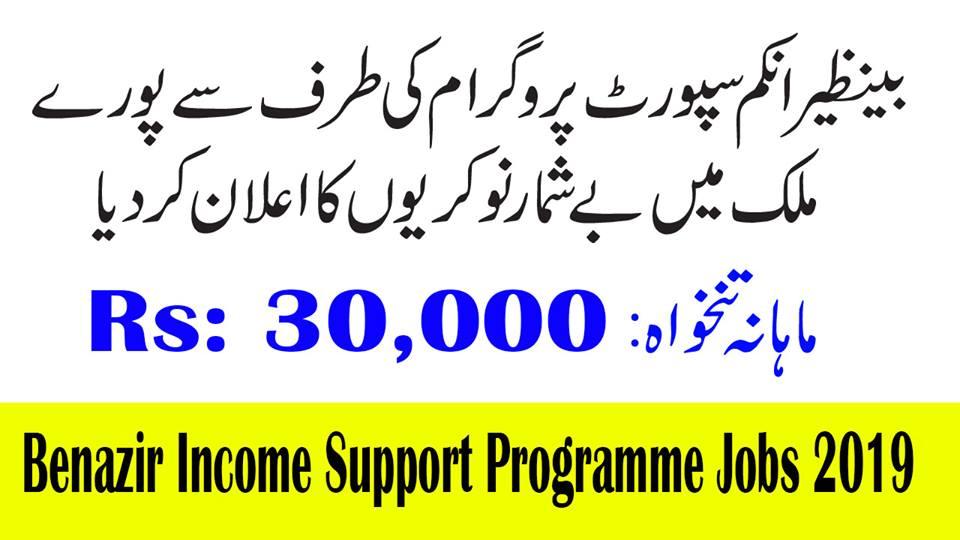 Jobs 2019 In Benazir Income Support Programme BISP