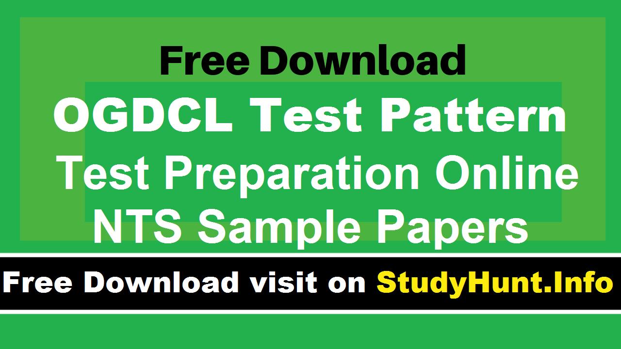 OGDCL Internship NTS test Syllabus