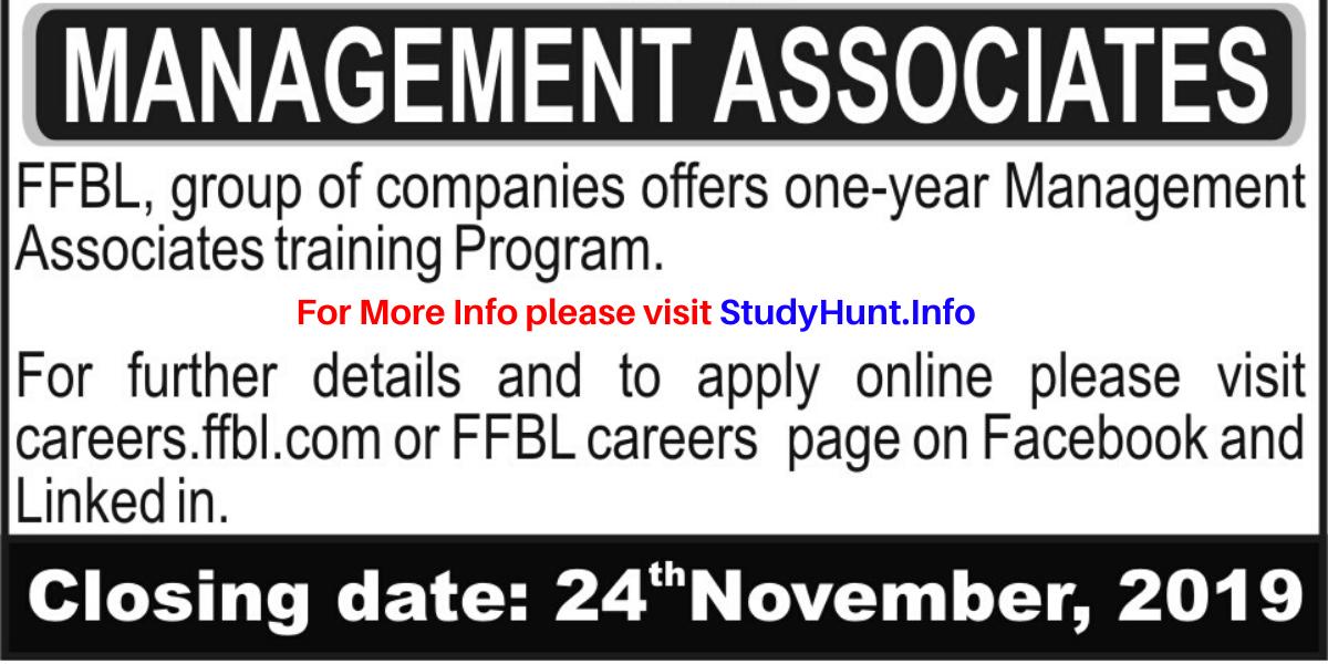 Fauji Fertilizer Bin Qasim Limited (FFBL) Management Associates Training Programs 2019