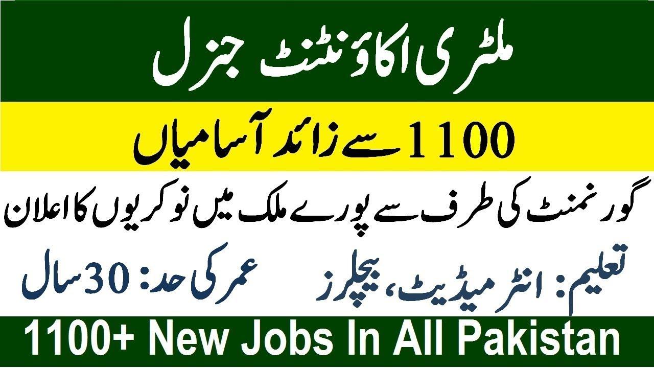 Military Accountant General Jobs 2019