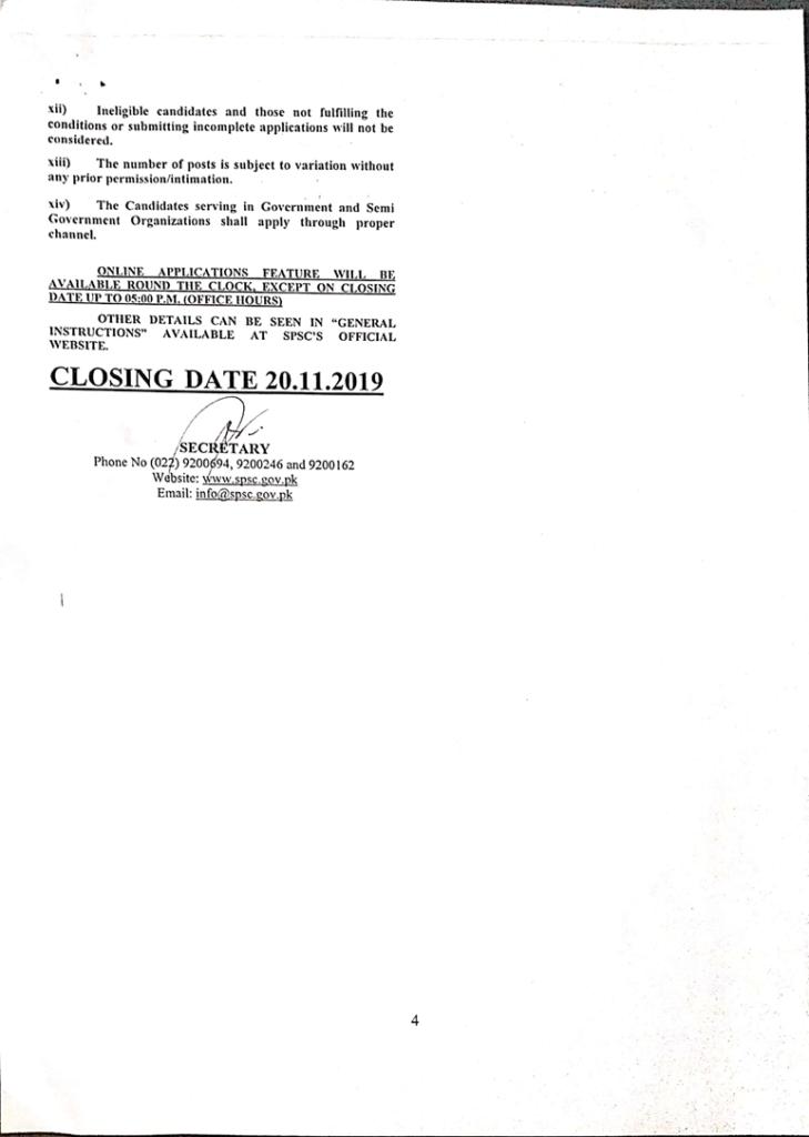 SPSC Jobs in Pakistan Advertisement 2019   Sindh Public Service Commission 574+ Vacancies