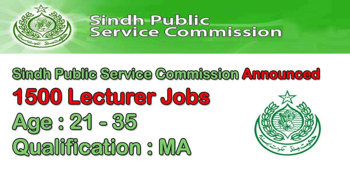 Lecturer Jobs in Sindh Public Service Commission (SPSC) 2019