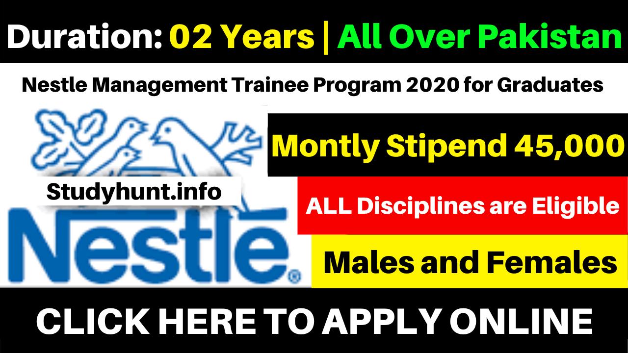 Nestle Management Trainee Program 2020 for Graduates