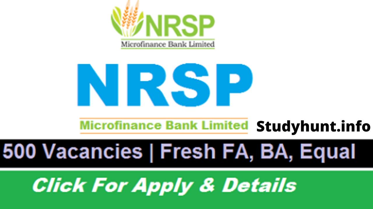 NRSP Microfinance Bank Jobs 2020
