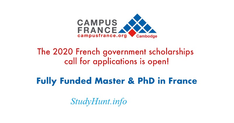 France Government Scholarship 2020-2021 For International Students