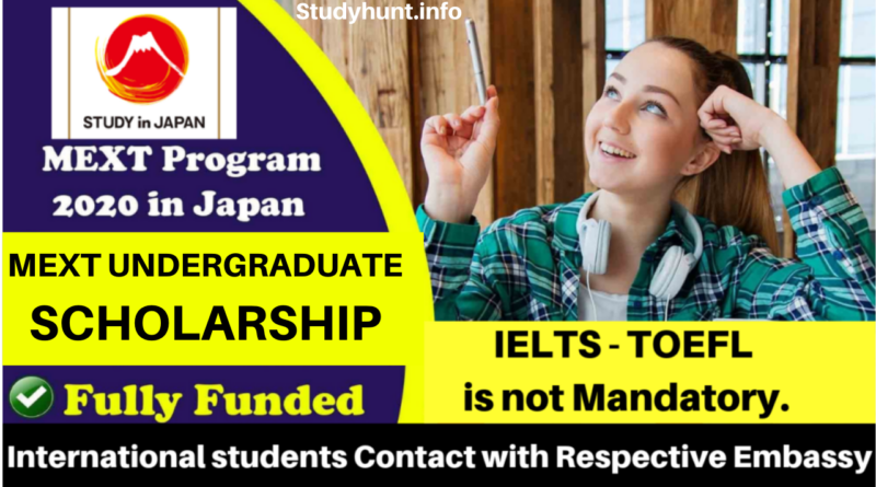 MEXT UNDERGRADUATE SCHOLARSHIP 2021 IN JAPAN (FULLY FUNDED)