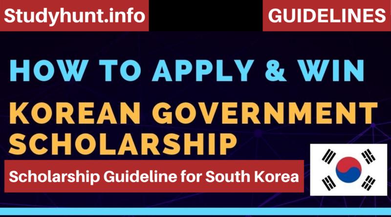 Scholarship Guideline for South Korea