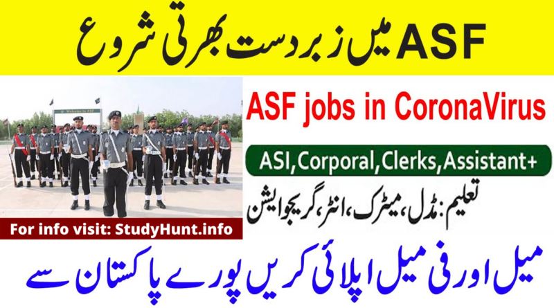 Airports Security Force (ASF) Jobs 2020 New 611+ Vacancies