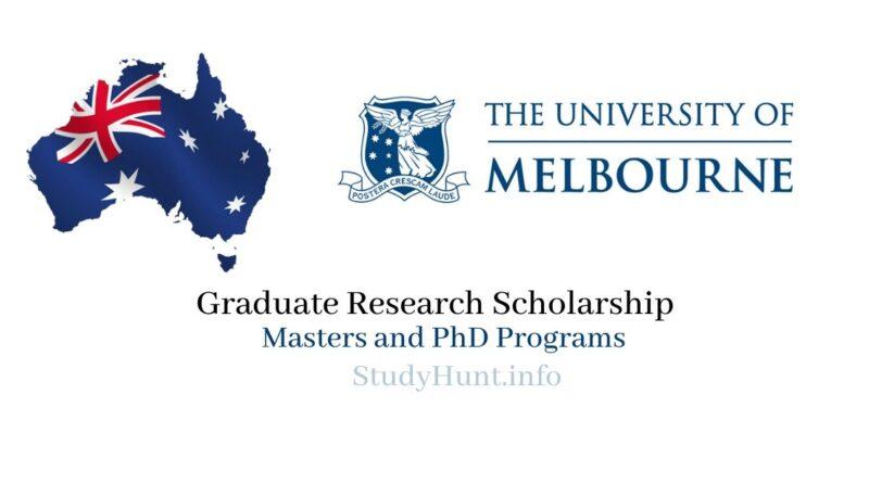 University of Melbourne scholarships 2021.