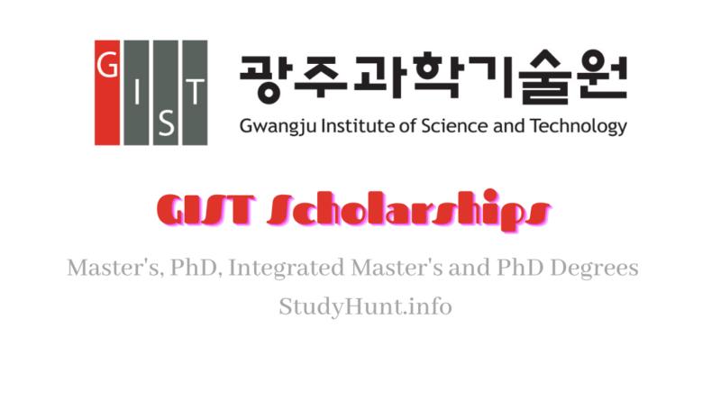 GIST Korea Scholarships 2021