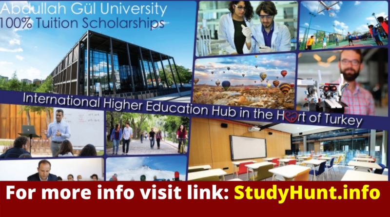 Undergraduate Student Tuition Scholarship at Abdullah Gül University Turkey