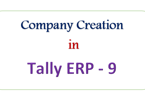 Company Creation In Tally ERP 9