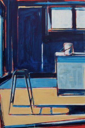 Studio Interior with Stool (30 x 20cm).