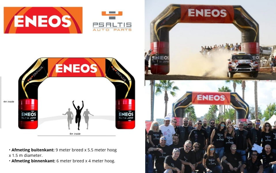 Opblaasbare Start Finish Boog Referentie project ENEOS Auto rally