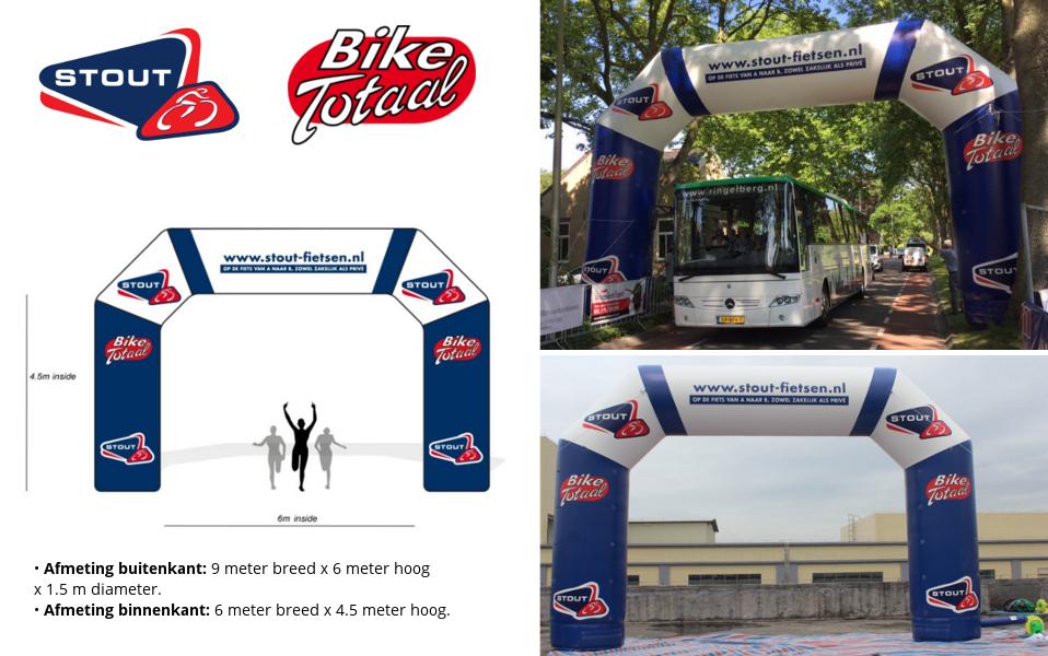 Opblaasbare Start Finish Boog Referentie project Stout Fietsen Bike Totaal