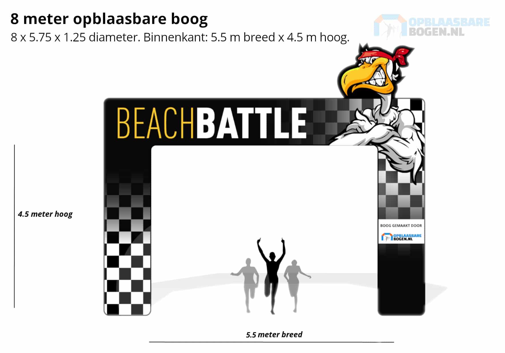 Opblaasbare boog Beach Battle met 3D element Opblaasbarebogen