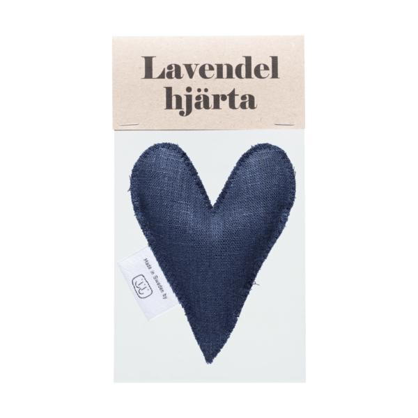 Marinblå lavendelhjärta i påse