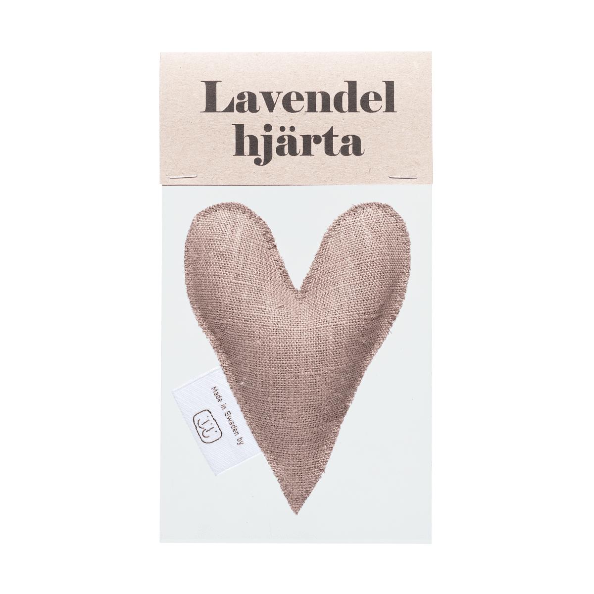 Nougat lavendelhjärta i påse