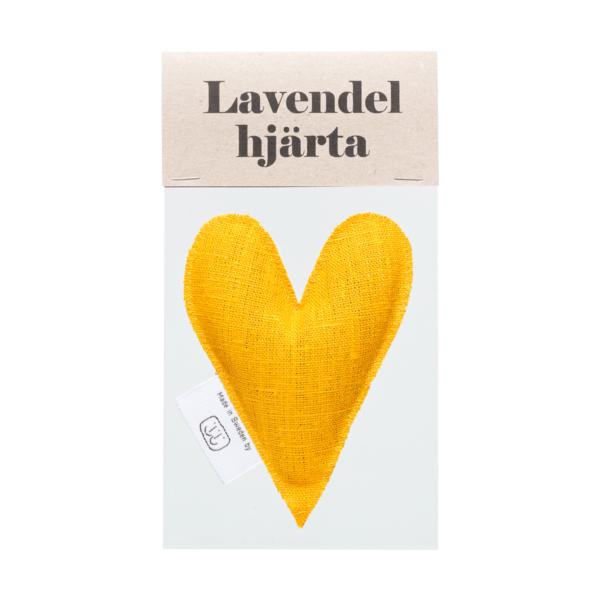 Gult lavendelhjärta i påse