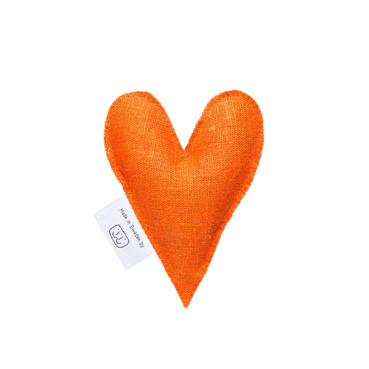 Orange lavendelhjärta