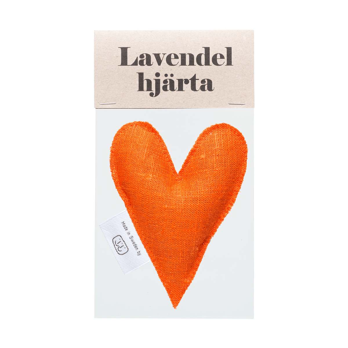 Orange lavendelhjärta i påse