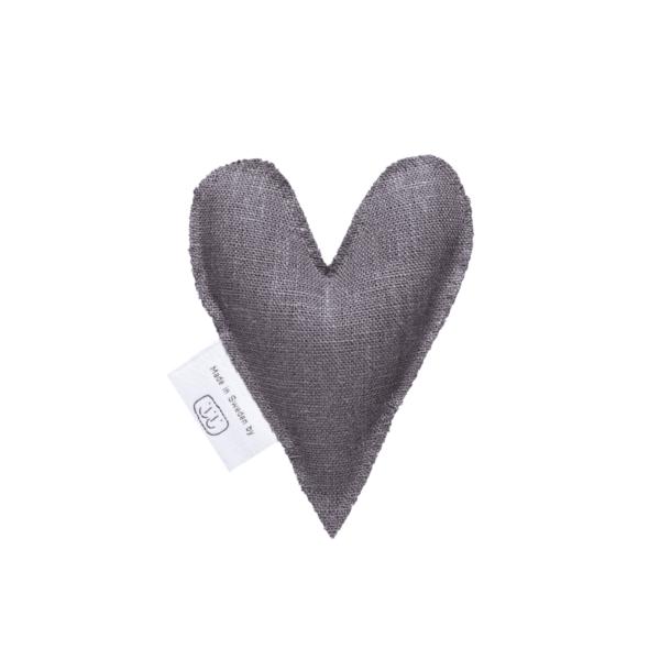 Grått lavendelhjärta