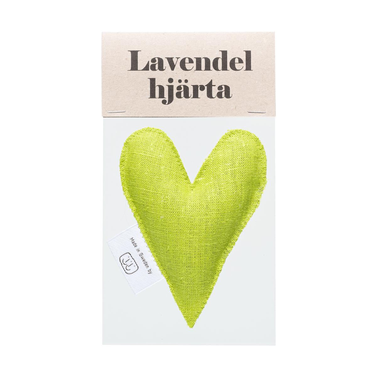 Limegrön lavendelhjärta i påse