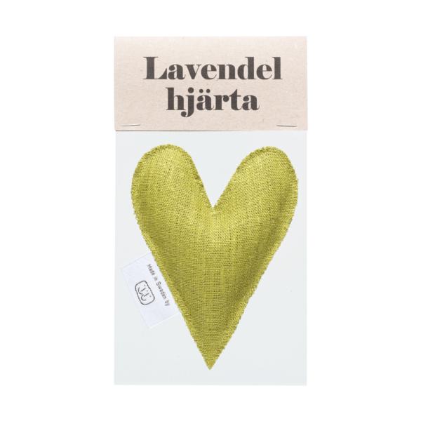 Mörk lime lavendelhjärta i påse