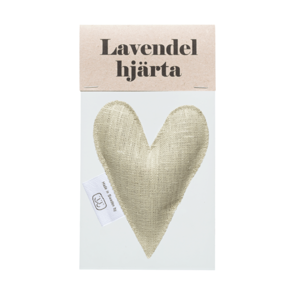 Ljus olivgrön lavendelhjärta i påse