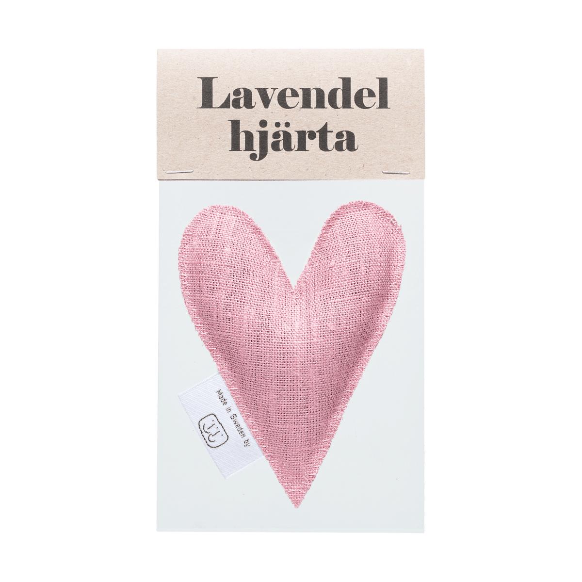 Gammalrosa lavendelhjärta i påse