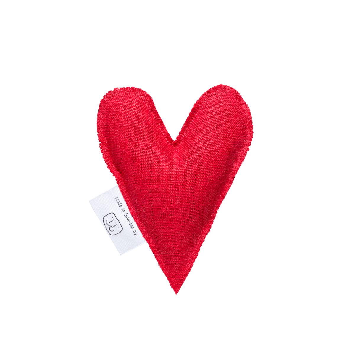 Röd lavendelhjärta