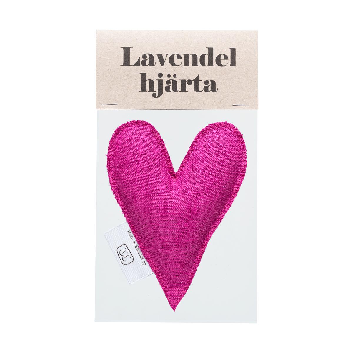 Fuchsia lavendelhjärta i påse