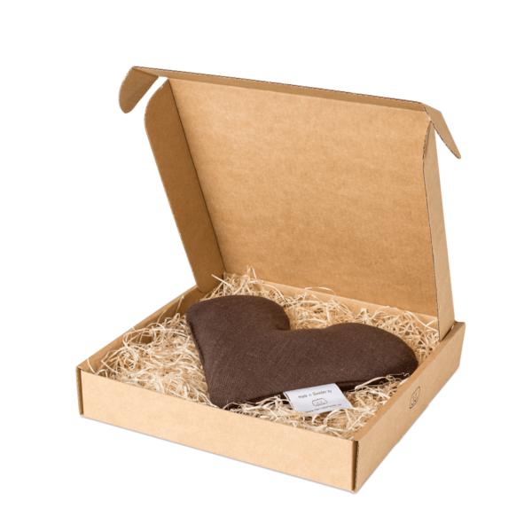 Brun sweetheart vetevärmare i förpackning
