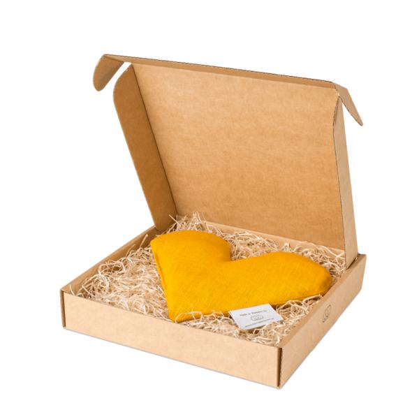 Gul sweetheart vetevärmare i förpackning