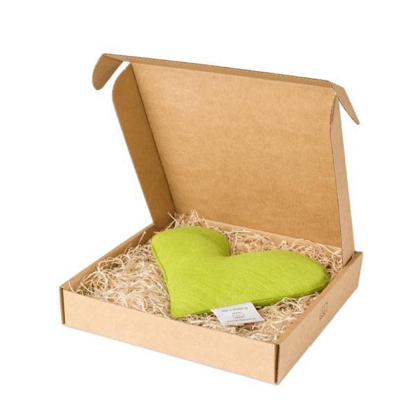 Limegrön sweetheart vetevärmare i förpackning