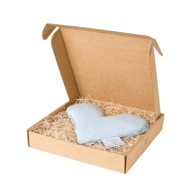 Ljusblå sweetheart vetevärmare i förpackning