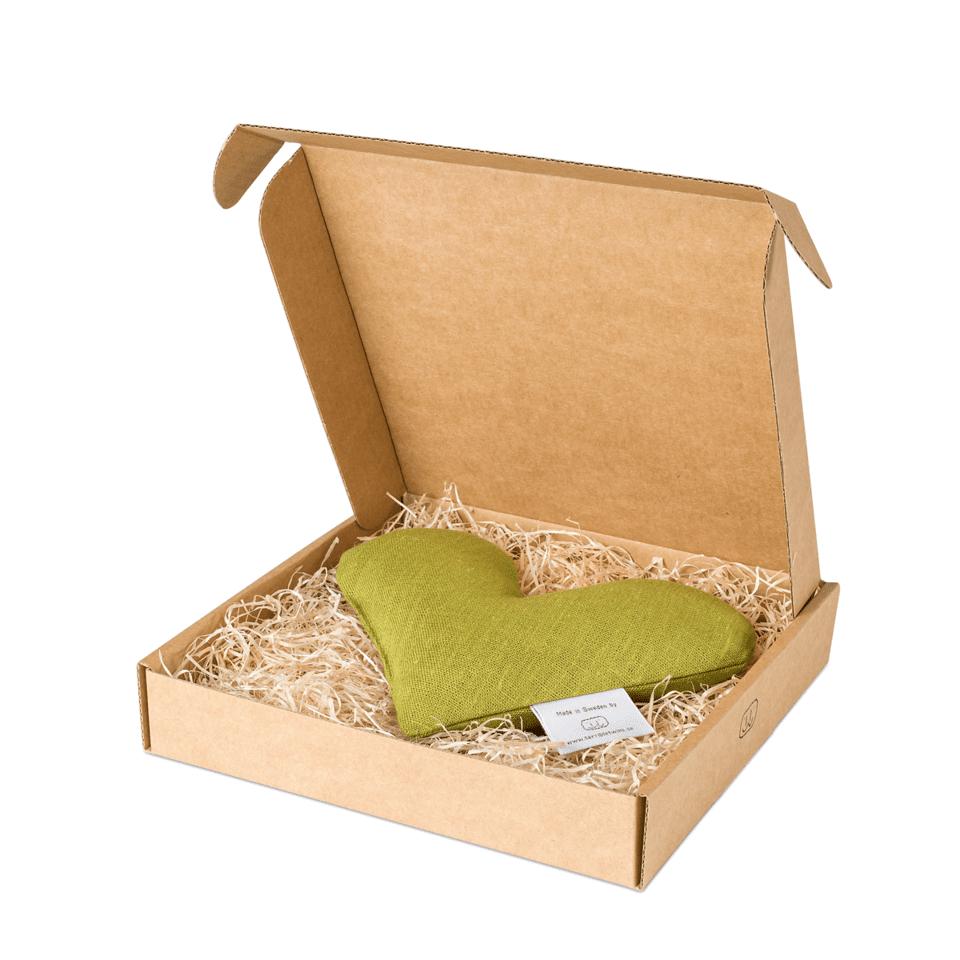 Mörk lime sweetheart vetevärmare i förpackning