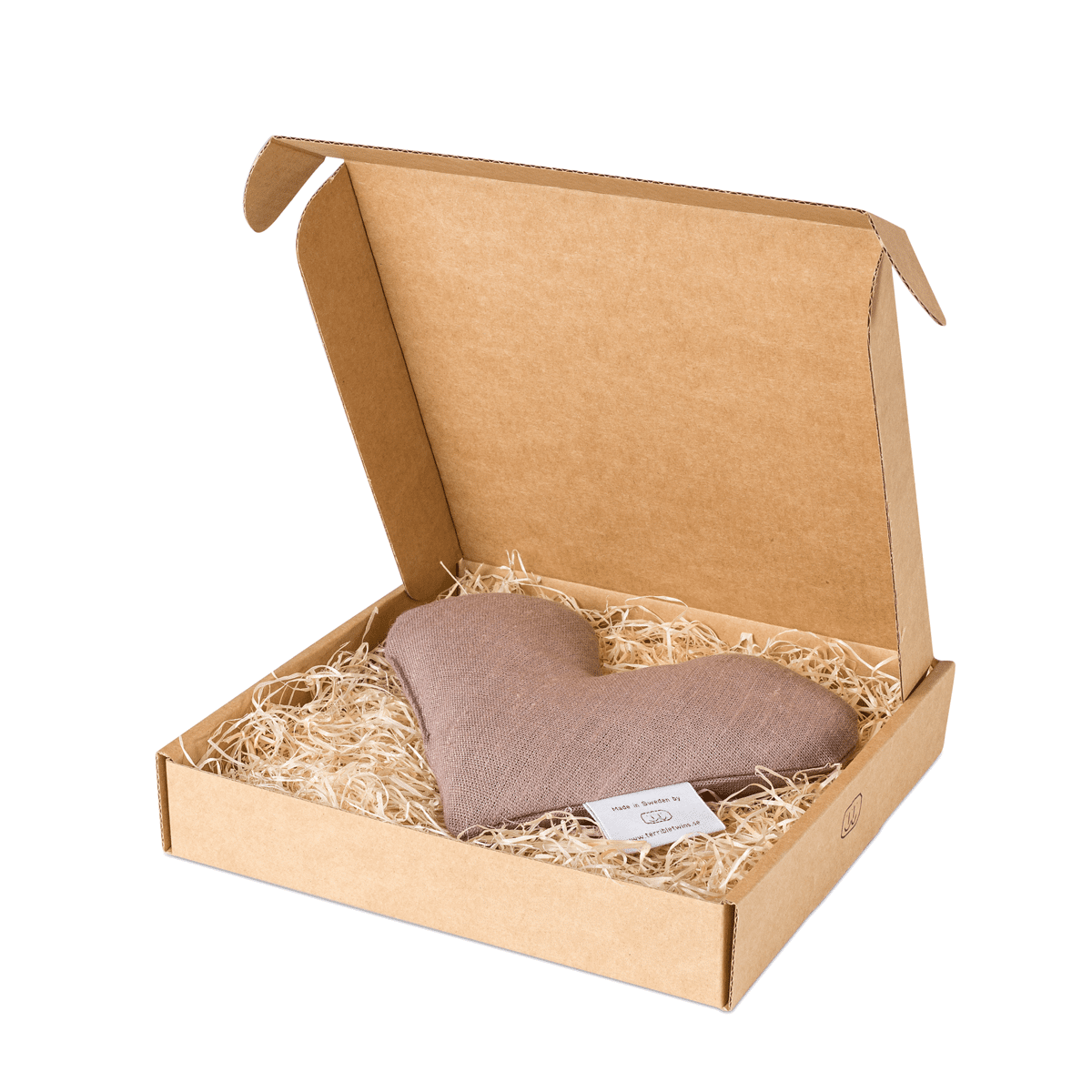 Nougat sweetheart vetevärmare i förpackning