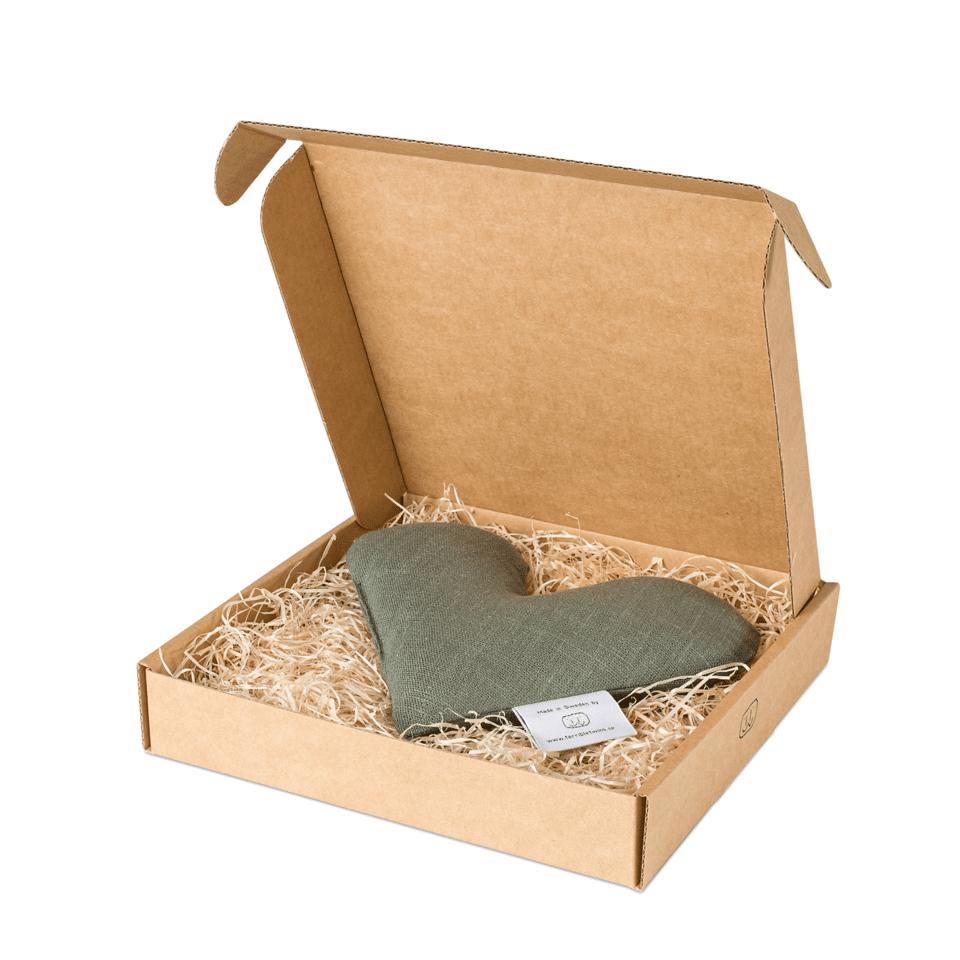 Olivgrön sweetheart vetevärmare i förpackning
