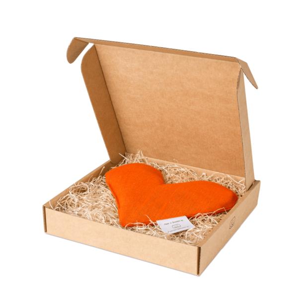 Orange sweetheart vetevärmare i förpackning