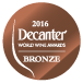 Decanter World Wine Awards 2016 Bronze